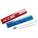 Lineal 5-teilig mit  mit 20 cm und 8 inch Skala, Spitzer, Radiergummi und 2 Bleistiften